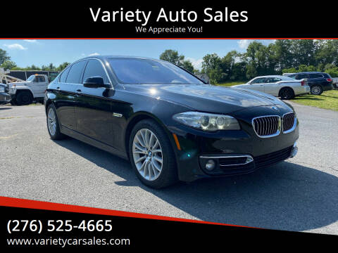2014 BMW 5 Series for sale at Variety Auto Sales in Abingdon VA