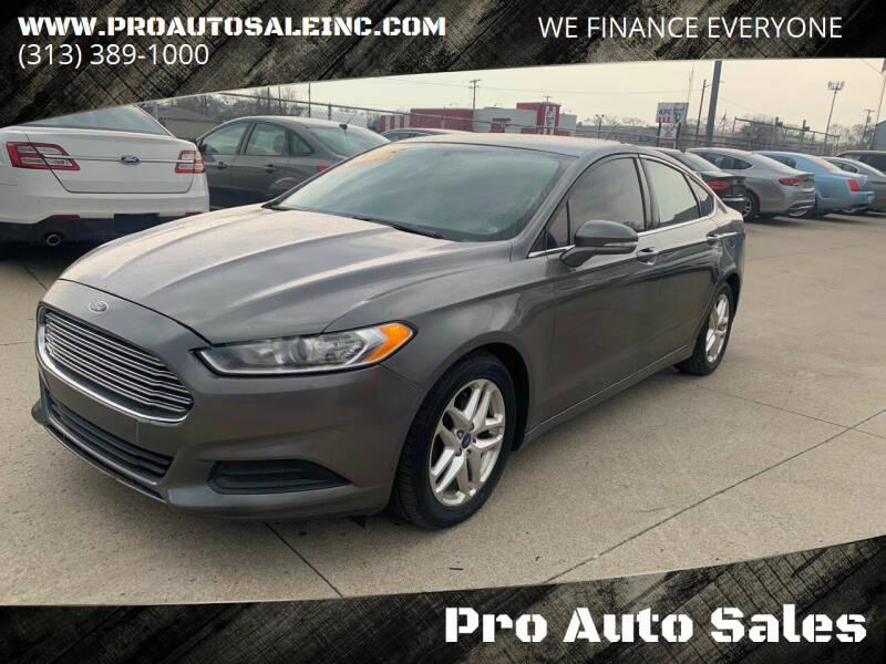 2013 Ford Fusion for sale at Pro Auto Sales in Lincoln Park MI