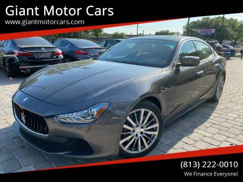 2016 Maserati Ghibli for sale at Giant Motor Cars in Tampa FL