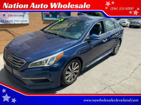 2015 Hyundai Sonata for sale at Nation Auto Wholesale in Cleveland OH