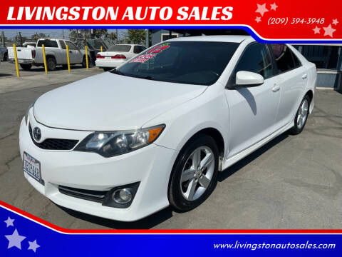 2012 Toyota Camry for sale at LIVINGSTON AUTO SALES in Livingston CA