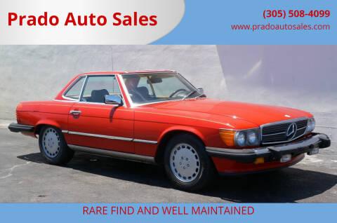 1986 Mercedes-Benz 560-Class for sale at Prado Auto Sales in Miami FL