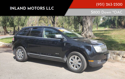 2008 Lincoln MKX for sale at Inland Motors LLC in Riverside CA