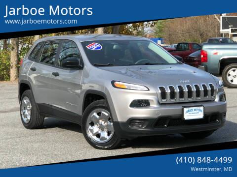 2014 Jeep Cherokee for sale at Jarboe Motors in Westminster MD