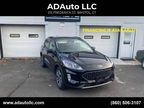 2020 Ford Escape for sale at ADAuto LLC in Bristol CT