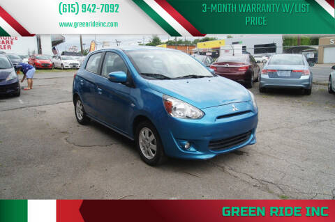 2015 Mitsubishi Mirage for sale at Green Ride Inc in Nashville TN