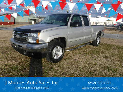2006 Chevrolet Silverado 1500 for sale at J Moores Auto Sales Inc in Kinston NC