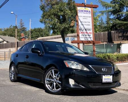 2008 Lexus IS 250 for sale at Sierra Auto Sales Inc in Auburn CA