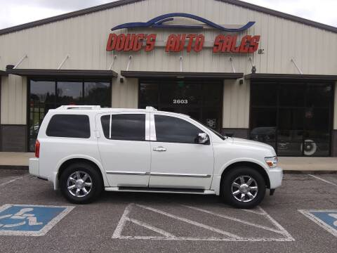 2005 Infiniti QX56 for sale at DOUG'S AUTO SALES INC in Pleasant View TN
