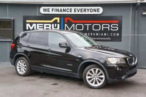 2013 BMW X3 for sale at Meru Motors in Hollywood FL
