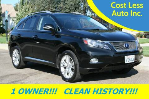 2011 Lexus RX 450h for sale at Cost Less Auto Inc. in Rocklin CA