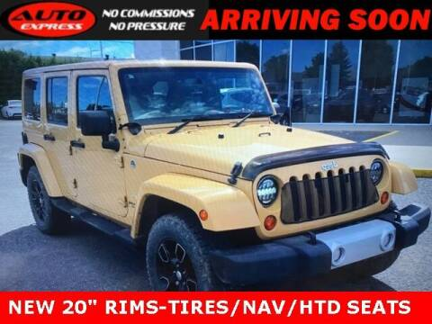 2013 Jeep Wrangler Unlimited for sale at Auto Express in Lafayette IN