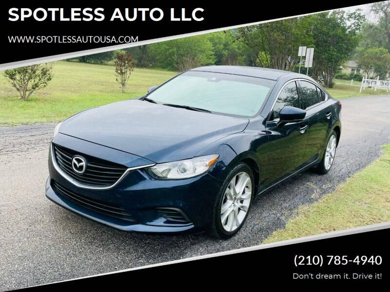 2017 Mazda MAZDA6 for sale at SPOTLESS AUTO LLC in San Antonio TX
