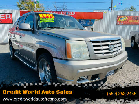 2003 Cadillac Escalade EXT for sale at Credit World Auto Sales in Fresno CA