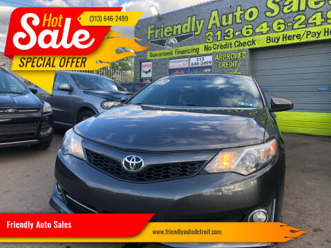 2014 Toyota Camry for sale at Friendly Auto Sales in Detroit MI
