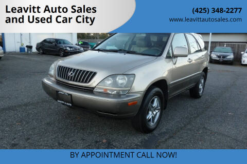2000 Lexus RX 300 for sale at Leavitt Auto Sales and Used Car City in Everett WA