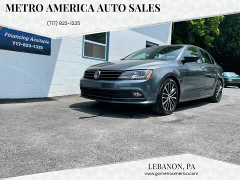2016 Volkswagen Jetta for sale at METRO AMERICA AUTO SALES of Lebanon in Lebanon PA