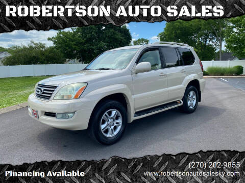 2003 Lexus GX 470 for sale at ROBERTSON AUTO SALES in Bowling Green KY
