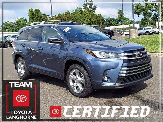 2019 Toyota Highlander for sale in Langhorne, PA