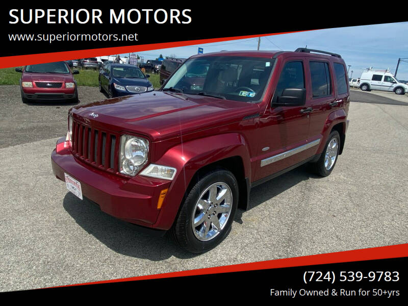 2012 Jeep Liberty for sale at SUPERIOR MOTORS in Latrobe PA