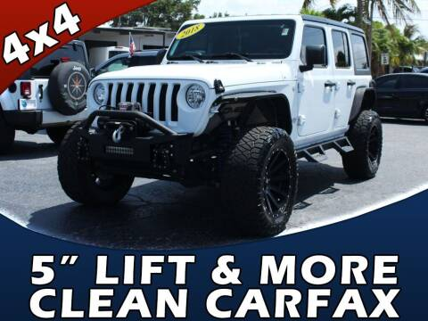 2018 Jeep Wrangler Unlimited for sale at Palm Beach Auto Wholesale in Lake Park FL