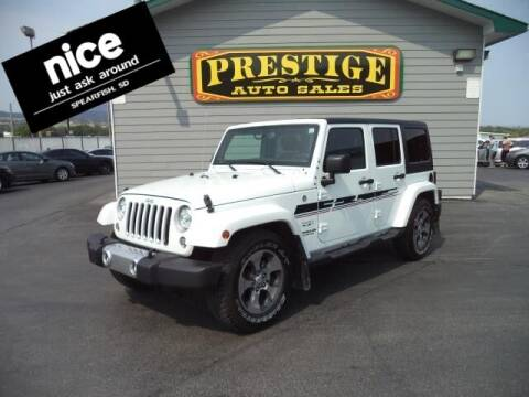 2017 Jeep Wrangler Unlimited for sale at PRESTIGE AUTO SALES in Spearfish SD