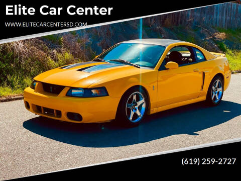 2004 Ford Mustang SVT Cobra for sale at Elite Car Center in Spring Valley CA