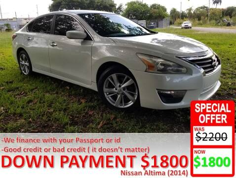 2014 Nissan Altima for sale at AUTO COLLECTION OF SOUTH MIAMI in Miami FL