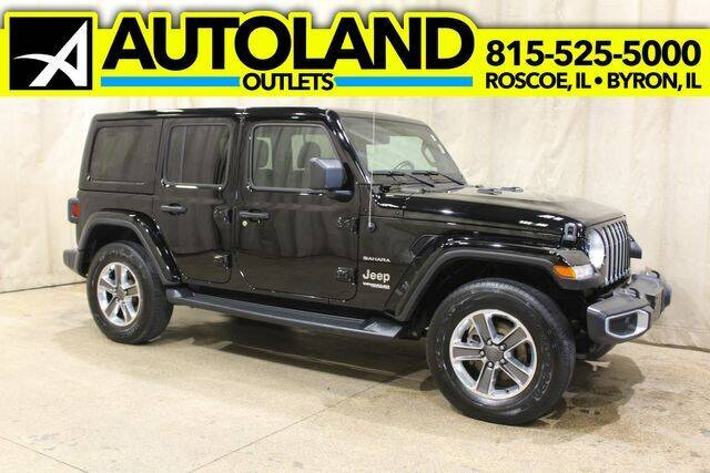 2020 Jeep Wrangler Unlimited for sale at AutoLand Outlets Inc in Roscoe IL