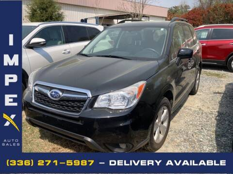2014 Subaru Forester for sale at Impex Auto Sales in Greensboro NC