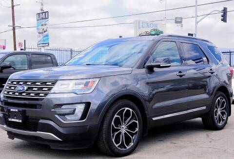 2016 Ford Explorer for sale at Luxor Motors Inc in Pacoima CA