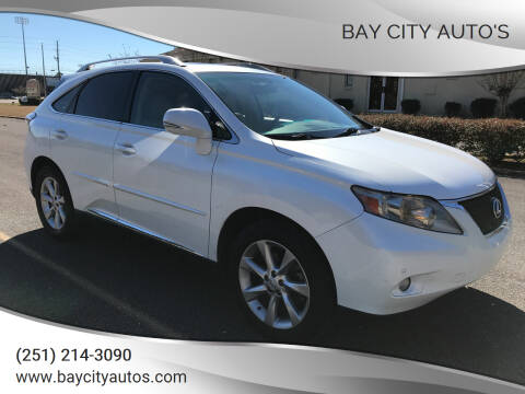 2011 Lexus RX 350 for sale at Bay City Auto's in Mobile AL
