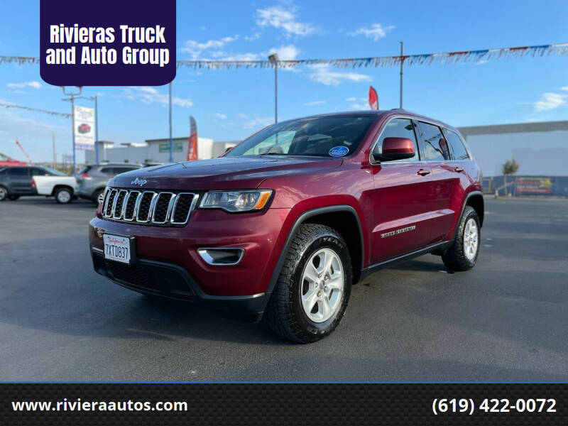 2017 Jeep Grand Cherokee for sale at Rivieras Truck and Auto Group in Chula Vista CA