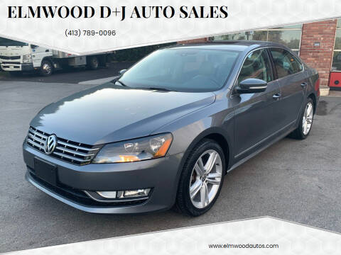 2014 Volkswagen Passat for sale at Elmwood D+J Auto Sales in Agawam MA