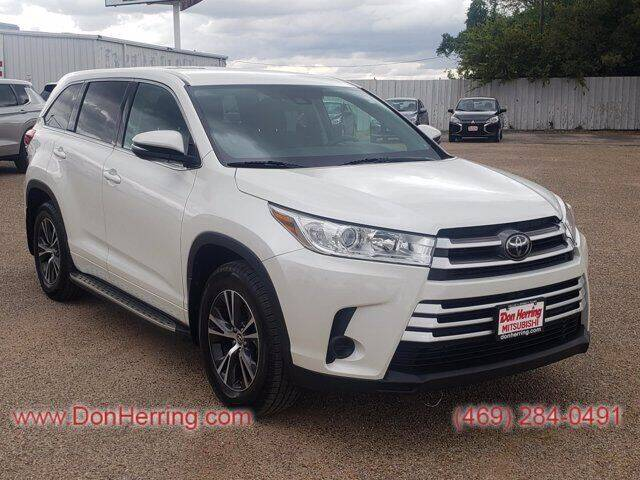 2018 Toyota Highlander for sale at Don Herring Mitsubishi in Dallas TX