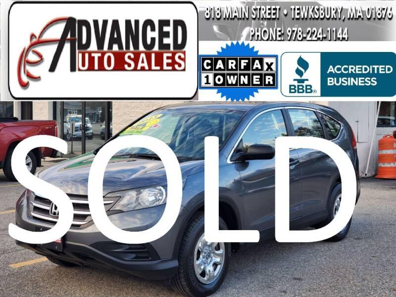 2013 Honda CR-V for sale at Advanced Auto Sales in Tewksbury MA