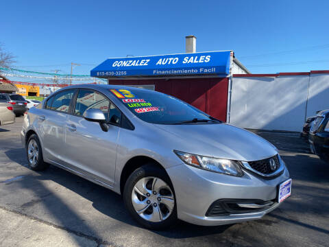 2013 Honda Civic for sale at Gonzalez Auto Sales in Joliet IL