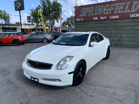 2007 Infiniti G35 for sale at SPRINGFIELD BROTHERS LLC in Fullerton CA