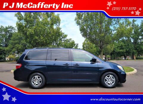 2007 Honda Odyssey for sale at P J McCafferty Inc in Langhorne PA