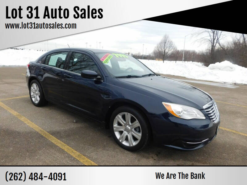 2013 Chrysler 200 for sale at Lot 31 Auto Sales in Kenosha WI