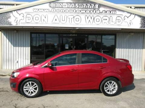 2014 Chevrolet Sonic for sale at Don Auto World in Houston TX