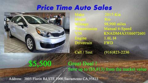 2017 Kia Rio for sale at PRICE TIME AUTO SALES in Sacramento CA