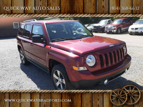 2016 Jeep Patriot for sale at QUICK WAY AUTO SALES in Bradford PA