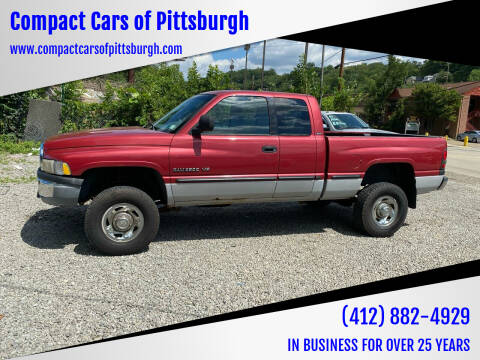 1999 Dodge Ram Pickup 2500 for sale at Compact Cars of Pittsburgh in Pittsburgh PA