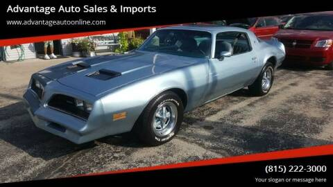 1977 Pontiac Firebird for sale at Advantage Auto Sales & Imports Inc in Loves Park IL