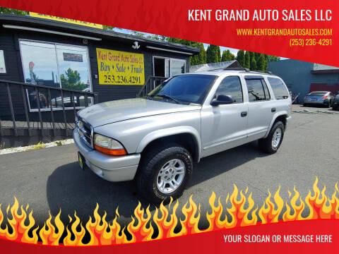 2002 Dodge Durango for sale at KENT GRAND AUTO SALES LLC in Kent WA