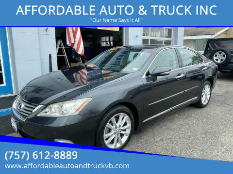 2011 Lexus ES 350 for sale at AFFORDABLE AUTO & TRUCK INC in Virginia Beach VA