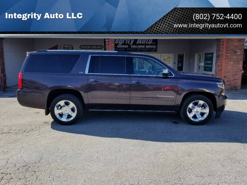 2016 Chevrolet Suburban for sale at Integrity Auto LLC - Integrity Auto 2.0 in St. Albans VT