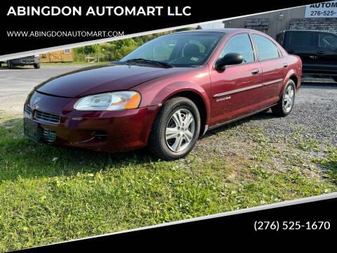 2001 Dodge Stratus for sale at ABINGDON AUTOMART LLC in Abingdon VA