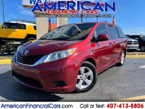 2012 Toyota Sienna for sale at American Financial Cars in Orlando FL